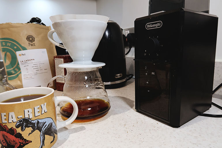 coffee grinder setup