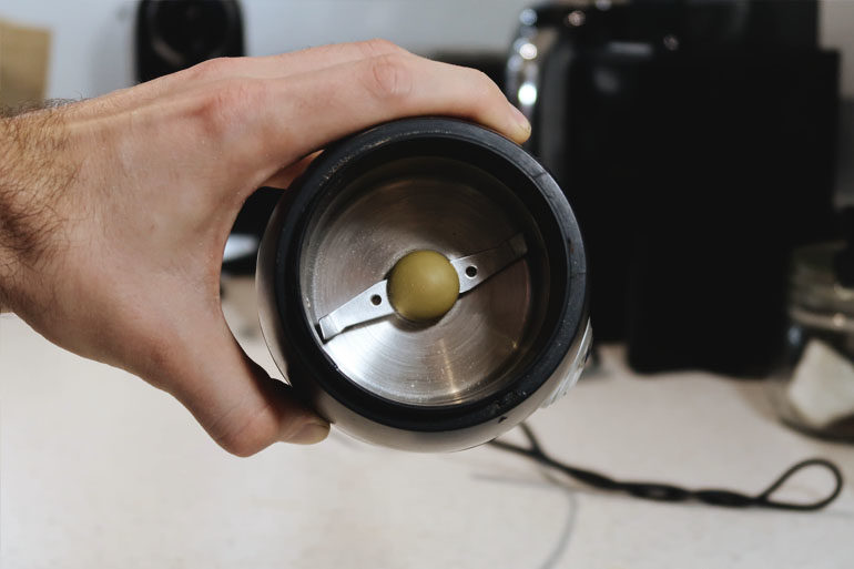 newly clean blade coffee grinder