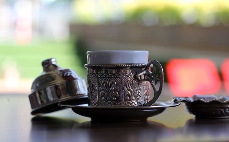 turkish coffee in cup