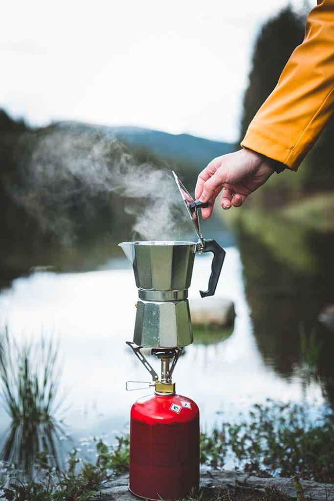 make coffee camping